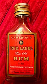 Cameron's red label guyana rum.JPG