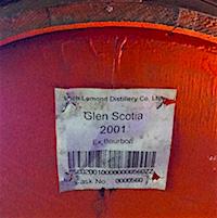 Glen Scotia cask