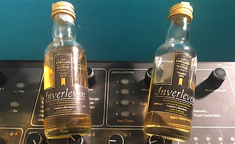 Inverleven 1984 and 1979 G&M distillery label 40%