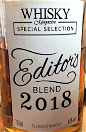 Whisky magazine Editions Blend 2018