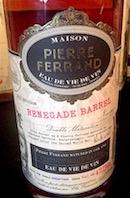 Cognac Show Pierre Ferrand Renegade barrel