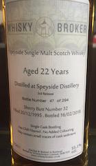 Speyside distillery 1995 22yo whiskybroker 55.1%.jpg