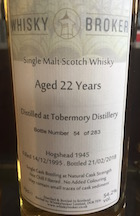 Tobermory 1995 22yo Whiskybroker cask 1945 54.2%.jpg