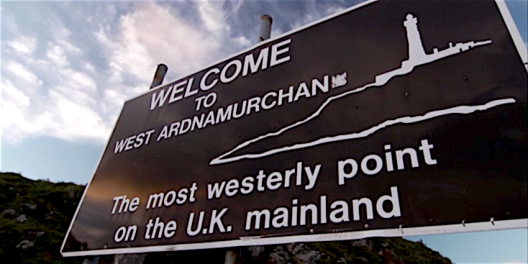 Ardnamurchan welcome sign