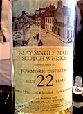 Bowmore 1996 22yo Hidden Spirits:La Maison du Whisky cask #BW9618 53.6%.jpg