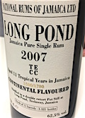 Long Pond 2007 11yo Ob. [LMdW & Velier] 1500:1700 Continental flavoured 11 casks [3325 bts] 62.3%