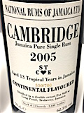 [Long Pond] Cambridge 2005 13yo Ob. [LMdW & Velier] 550:700 11 continental flavoured casks [3648 bts] 62.5%