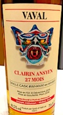 Vaval 2015:2018 27 mois Clairin Ansyen ex-whisky cask #WHKVA1 49.5%.jpeg
