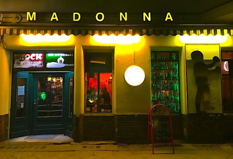 Madonna bar front