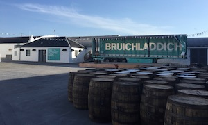 Bruichladdich distillery yard after