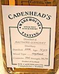 Aultmore 2006:2019 12yo CadenheadWarehouse Tasting bourbon Hogshead 56.7%