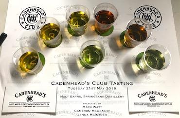 Cadenhead club tasting flight.jpeg