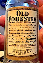 Old Forester Brown Foreman distillers Italian import 1:10 pint 43 GL 86 proof BACK