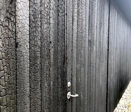 Charred doors