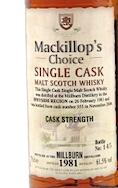 Millburn 1981:2004 Mackillop's Sherry cask #353 61.5%