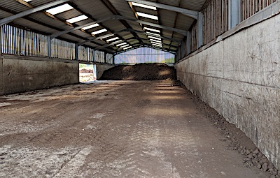Port Ellen Maltings Empty Islay peat shed.jpg