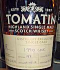 Tomatin 1990:2016 [25:26yo] Ob. Distillery Exclusive single cask #16366 54.4%.jpg