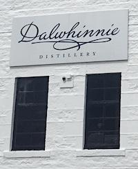 Dalwhinnie distillery sign