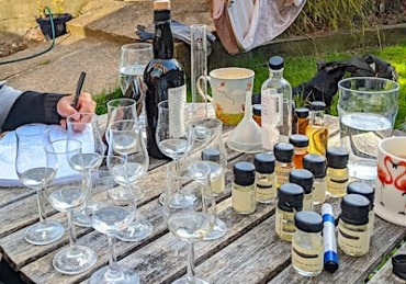 Dornoch gin tasting table