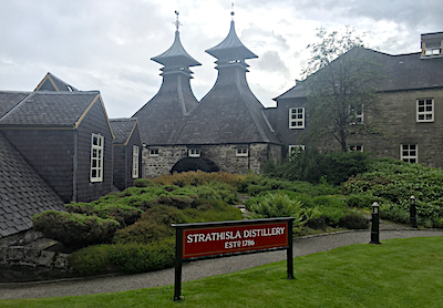 Strathisla distillery sign